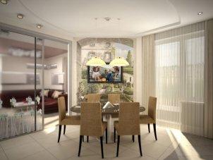 Дизайн квартиры фото студия кухня с гостиной