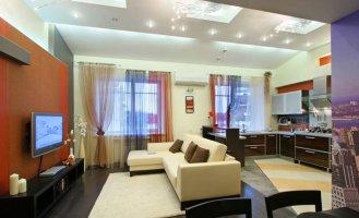 дизайн квартиры студии с двумя окнами фото » Креативный дизайн
