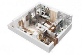 дизайн однокомнатной квартиры 40 кв м студия