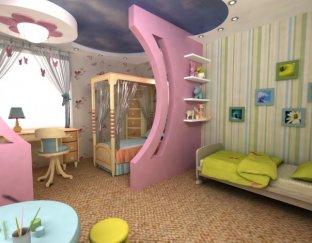дизайн однокомнатной квартиры студии с детской — Дизайн квартиры