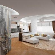 Дизайн потолка квартиры студии - Дизайн двухкомнатной квартиры