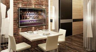 Интерьер 1 комнатной квартиры-студии