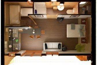Оформление квартиры-студии в эко-стиле