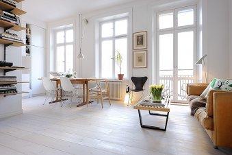 Скандинавский дизайн квартиры-студии 39 м
