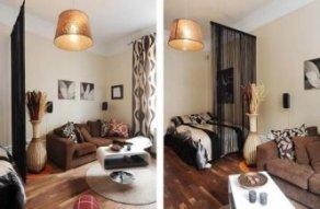 Стильный мужской дизайн квартиры студии 28 кв.метрой